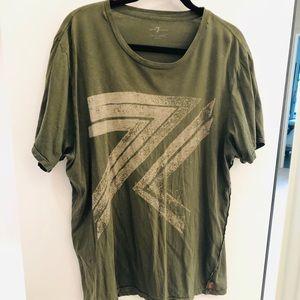 7 seven men's short sleeve green tee shirt XL